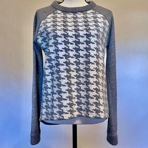 Boden Katie Houndstooth 100% Wool Sweater Sz 8